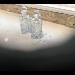 2 Crystal or Cut Glass Bottles